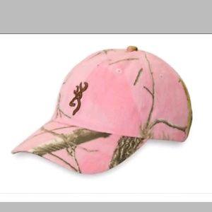 Browning Realtree Pink Camo Hat Women Baseball Cap
